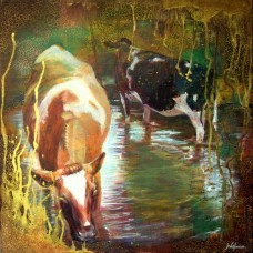 'Paddling Cows' by Jan Vallance