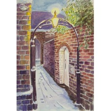 'Snowy Alley in Gas Street' by Louise Moore