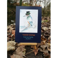 Wassailing Kingfisher Card